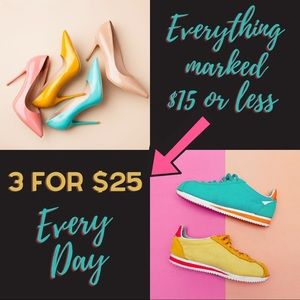 🌟3 for $25 All Day, Every Day🌟